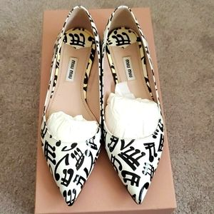 Miu Miu music notes flats